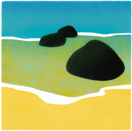 black_rocks_blue_sea